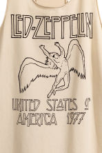 Vest top - Beige/Led Zeppelin - Ladies | H&M 3