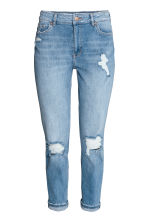 Boyfriend Slim Low Jeans - 浅牛仔蓝 - 女士 | H&M CN 2