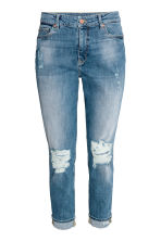slim  boyfriend low - Denimblå trashed - DAM | H&M FI 2
