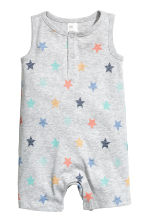 Sleeveless romper suit - Grey -  | H&M 1