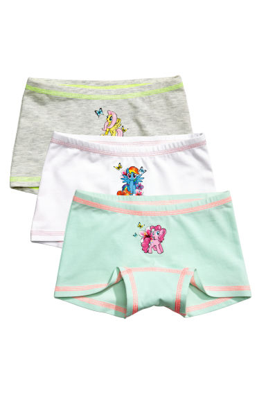 3-pack boxer briefs - White/My Little Pony - Kids | H&M 1