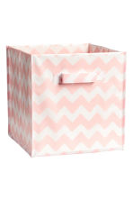 Storage box - Light pink/Patterned - Home All | H&M CN 1