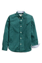 Cotton shirt - Dark green - Kids | H&M CN 3