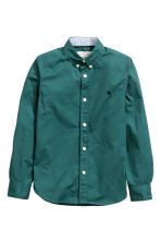 Cotton shirt - Dark green - Kids | H&M CN 2