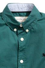 Cotton shirt - Dark green - Kids | H&M CN 4