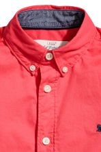 Cotton shirt - Coral red - Kids | H&M 4
