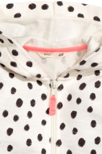 Hooded jacket - White/Spotted - Kids | H&M 3