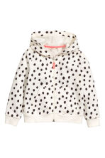 Hooded jacket - White/Spotted - Kids | H&M 2