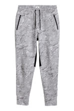 Jersey sports joggers - Grey/Patterned - Men | H&M CN 2