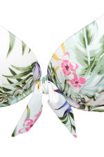 Top de bikini con superpush-up - Blanco/Floral - MUJER | H&M ES 4
