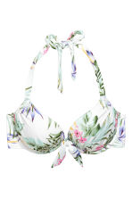 Top de bikini con superpush-up - Blanco/Floral - MUJER | H&M ES 2