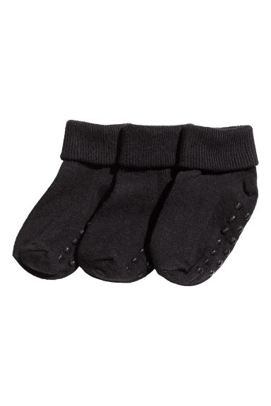 3-pack socks - Black - Kids | H&M CN