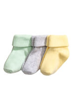 3-pack socks - Mint green - Kids | H&M CN 1