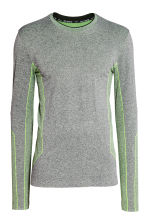Seamless sports top - Grey marl -  | H&M 2