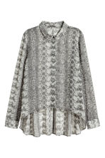 Chiffon shirt - Grey/Patterned -  | H&M 2