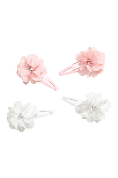 4-pack hair clips - Light pink - Kids | H&M CN 1