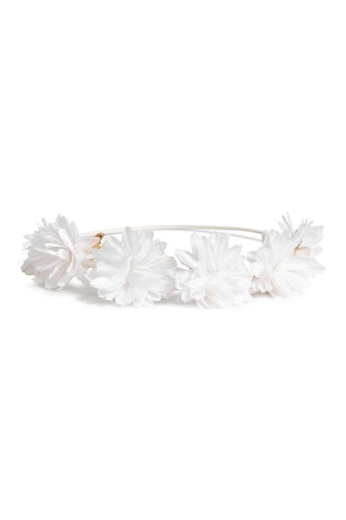 Hairband with flowers - White - Kids | H&M CA 1