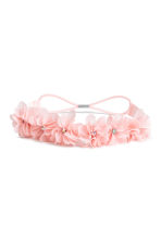 Hairband with flowers - Light pink - Kids | H&M CN 1