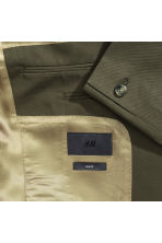 Linen-blend jacket Slim fit - Khaki green - Men | H&M CN 3