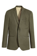 Blazer in misto lino Slim fit - Verde kaki - UOMO | H&M IT 2