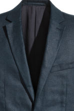Linen jacket - Dark blue - Men | H&M CN 3