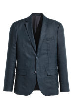 Linen jacket - Dark blue - Men | H&M CN 2