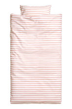 Striped duvet cover set - White/Light pink - Home All | H&M CN 2