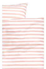 Striped duvet cover set - White/Light pink - Home All | H&M CN 3