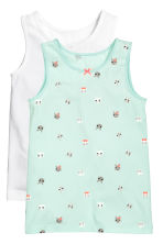 2-pack vest tops - Mint green - Kids | H&M 1