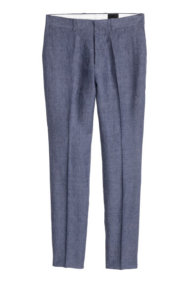 Suit trousers Slim fit - Blue marl - Men | H&M 1