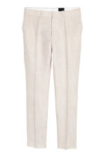 Geklede broek - Slim fit - Lichtbeige - HEREN | H&M BE 2