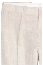 Suit trousers Slim fit - Light beige - Men | H&M CN 4