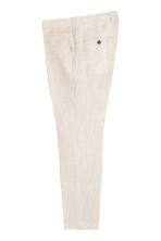 Geklede broek - Slim fit - Lichtbeige - HEREN | H&M BE 3