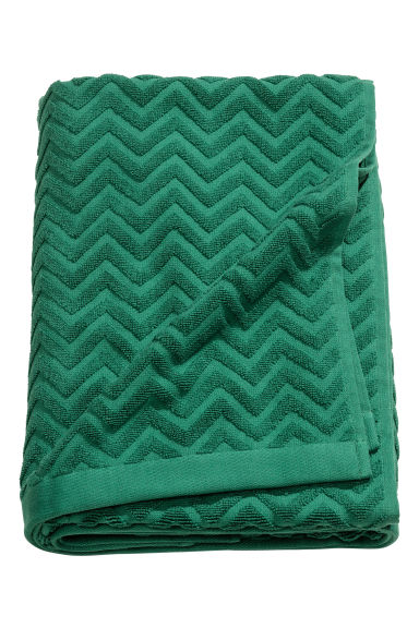 Telo bagno jacquard - Verde scuro - HOME | H&M IT 1