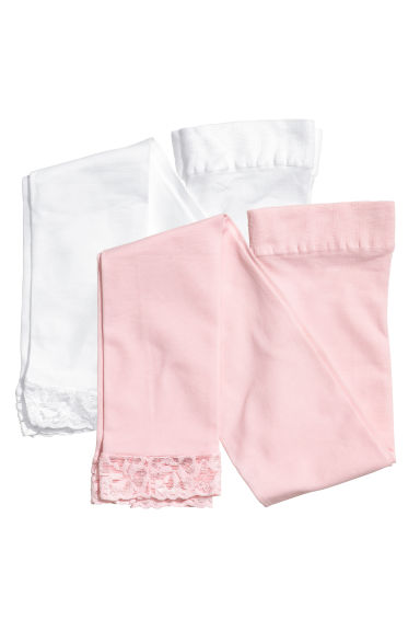 2件入內搭褲 - Light pink - Kids | H&M 1