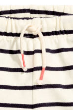 汗布短裤 - Natural white/Striped - Kids | H&M CN 3