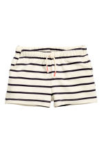汗布短裤 - Natural white/Striped - Kids | H&M CN 2