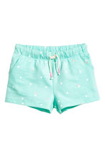 平紋短褲 - Mint green/Heart -  | H&M 2