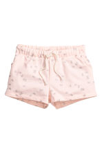 Jersey shorts - Light pink/Butterflies - Kids | H&M CN 2
