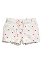 Jersey shorts - Light beige marl - Kids | H&M 2