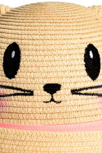 Straw hat with ears - Natural - Kids | H&M CN 2
