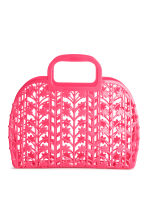 Hole-patterned plastic tote - Neon pink - Kids | H&M 1