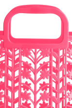 Hole-patterned plastic tote - Neon pink - Kids | H&M 2