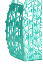 Hole-patterned plastic tote - Turquoise - Kids | H&M 2