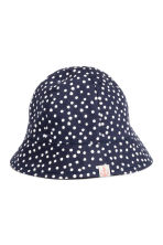 Cotton sun hat - Dark blue/Spotted - Kids | H&M 1