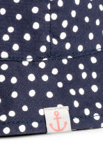 Cotton sun hat - Dark blue/Spotted - Kids | H&M CN 2