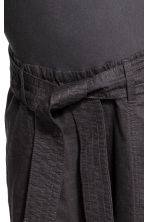 MAMA Linen-blend trousers - Dark grey -  | H&M 6