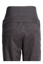 MAMA Linen-blend trousers - Dark grey -  | H&M 4