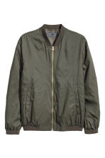 Thin nylon bomber jacket - Dark khaki green - Men | H&M 2