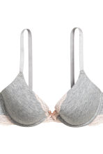 2-pack push-up bras - Grey marl - Ladies | H&M CN 3
